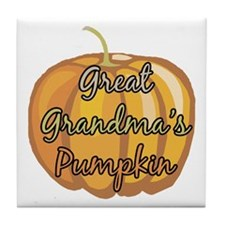 Great Grandma's Pumpkin Tile Coaster