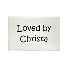 Unique Christa Rectangle Magnet