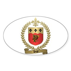 PAGE Family Crest Oval Decal