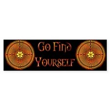 Chartres Labyrinth Fire Bumper Bumper Sticker