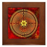 Chartres labyrinth Framed Tiles