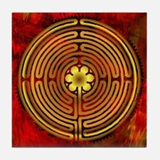 Chartres Labyrinth Fire Tile Coaster