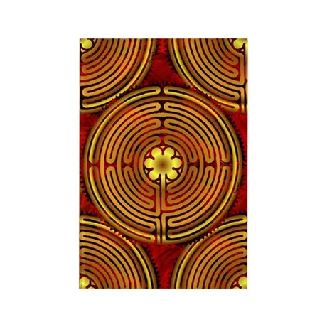 Chartres Labyrinth Fire Rectangle Magnet