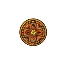 Chartres Labyrinth Fire Mini Button (100 pack)