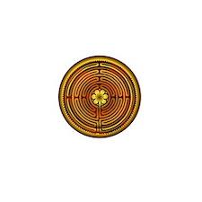 Chartres Labyrinth Fire Mini Button