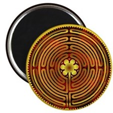 Chartres Labyrinth Fire Magnet