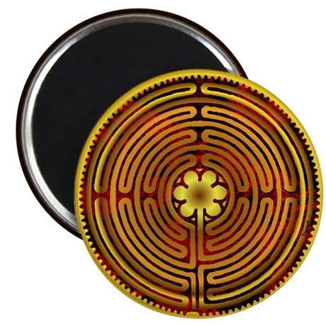 "Chartres Labyrinth Fire 2.25"" Magnet (100 pack)"