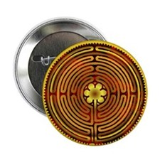 "Chartres Labyrinth Fire 2.25"" Button (10 pack)"
