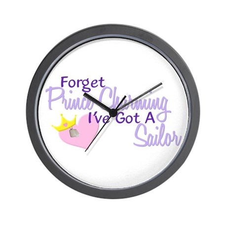 Forget Prince Charming - Sailor Wall Clock