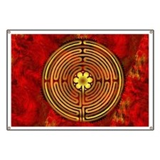 Chartres Labyrinth Fire Banner