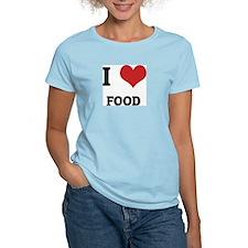 I Love Food Women's Pink T-Shirt