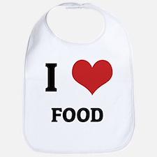 I Love Food Bib