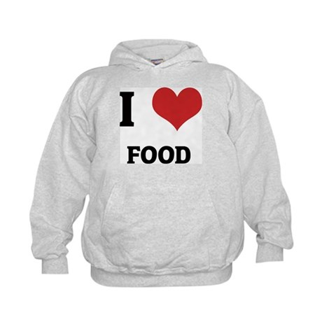 I Love Food Kids Hoodie