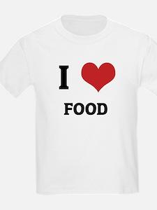 I Love Food Kids T-Shirt