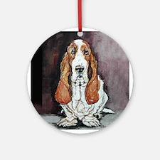 Basset Hound Portrait Ornament (Round)