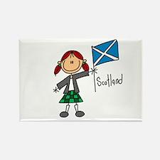 Scotland Ethnic Rectangle Magnet