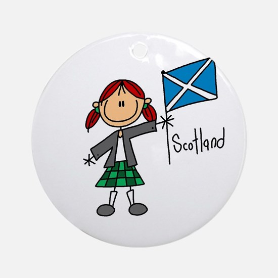 Scotland Ethnic Ornament (Round)
