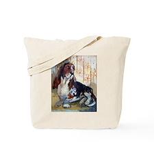 Vintage Basset Hound Tote Bag