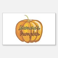 Memere's Pumpkin Rectangle Decal