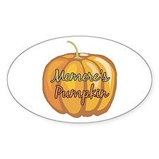 Memere's Pumpkin Oval Decal