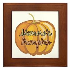 Memere's Pumpkin Framed Tile