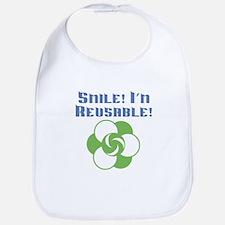 Smile I'm Reusable Bib