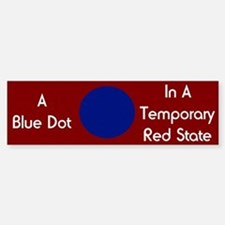 Blue Dot Bumper Bumper Bumper Sticker