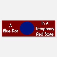 Blue Dot Bumper Car Car Sticker