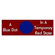 Blue Dot Bumper Car Sticker
