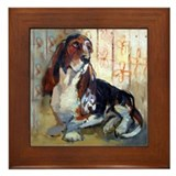 Basset hound Framed Tiles