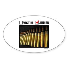 GUN RIGHTS Oval Sticker (10 pk)