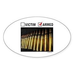 GUN RIGHTS Oval Sticker (10 pk)