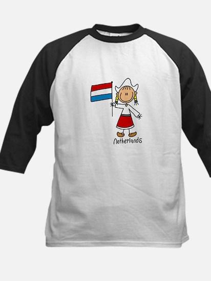 Netherlands Ethnic Kids Baseball Jersey