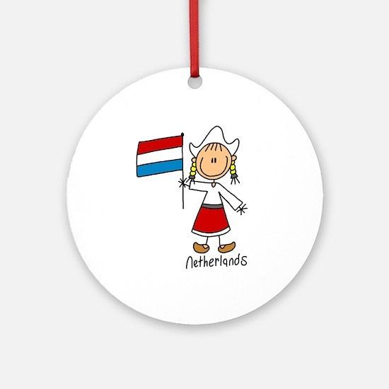 Netherlands Ethnic Ornament (Round)