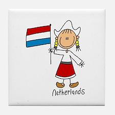 Netherlands Ethnic Tile Coaster