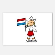Netherlands Ethnic Postcards (Package of 8)