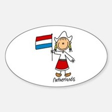 Netherlands Ethnic Oval Decal