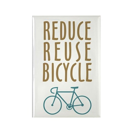 Reduce Reuse Bicycle Rectangle Magnet
