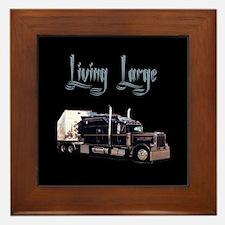 Cute Peterbilt trucks Framed Tile