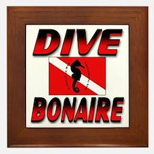 Dive Bonaire (red) Framed Tile