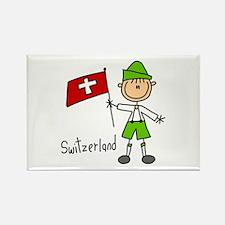 Switzerland Ethnic Rectangle Magnet