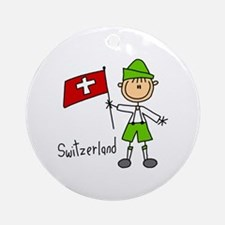 Switzerland Ethnic Ornament (Round)