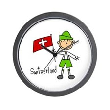 Switzerland Ethnic Wall Clock