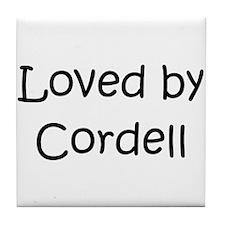 Cute Cordell Tile Coaster