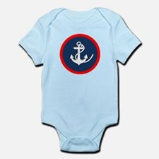 ANCHOR ON BLUE AND RED CIRCLE Body Suit