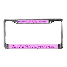 Cute Nurse License Plate Frame