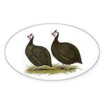 Chocolate Guineas Oval Sticker (10 pk)