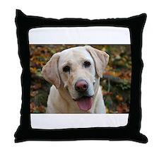 Funny Yellow labrador Throw Pillow