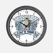 Save the Penguins Mississippi Wall Clock