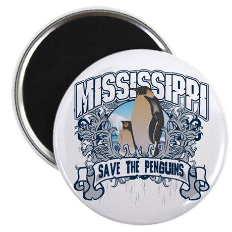 Save the Penguins Mississippi Magnet
